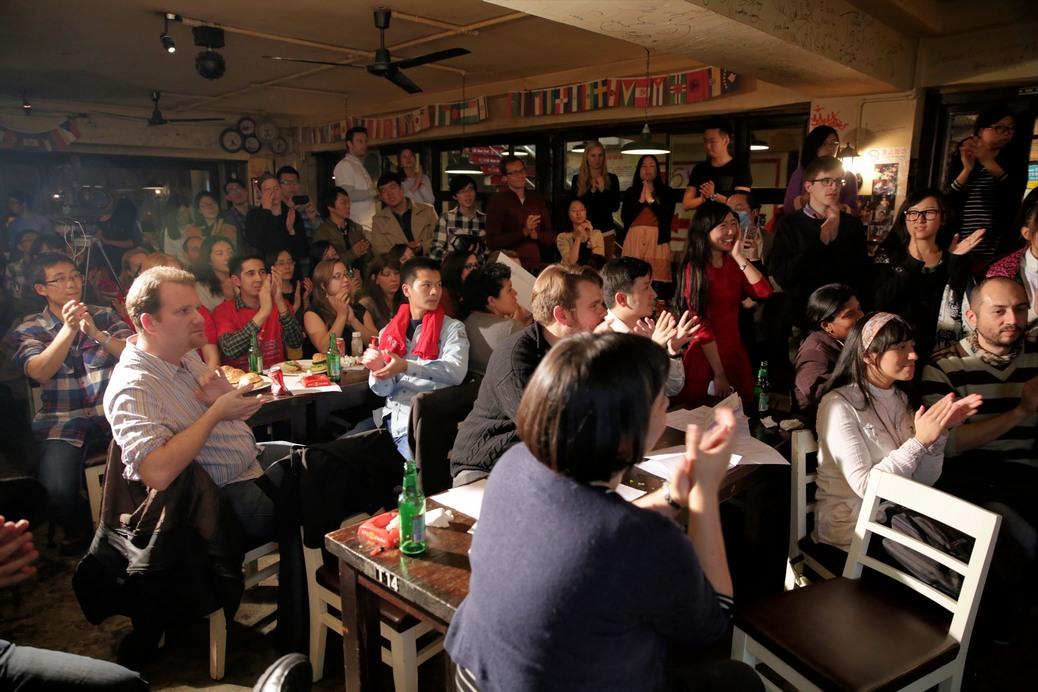 Euraxess ScienceSlam 2014, Raymond Ambrosi,meihuaquan, intangible cultural heritage, social cohesion, community rejuvanation, public sphere, Zhang Luzhou, Fan Limei