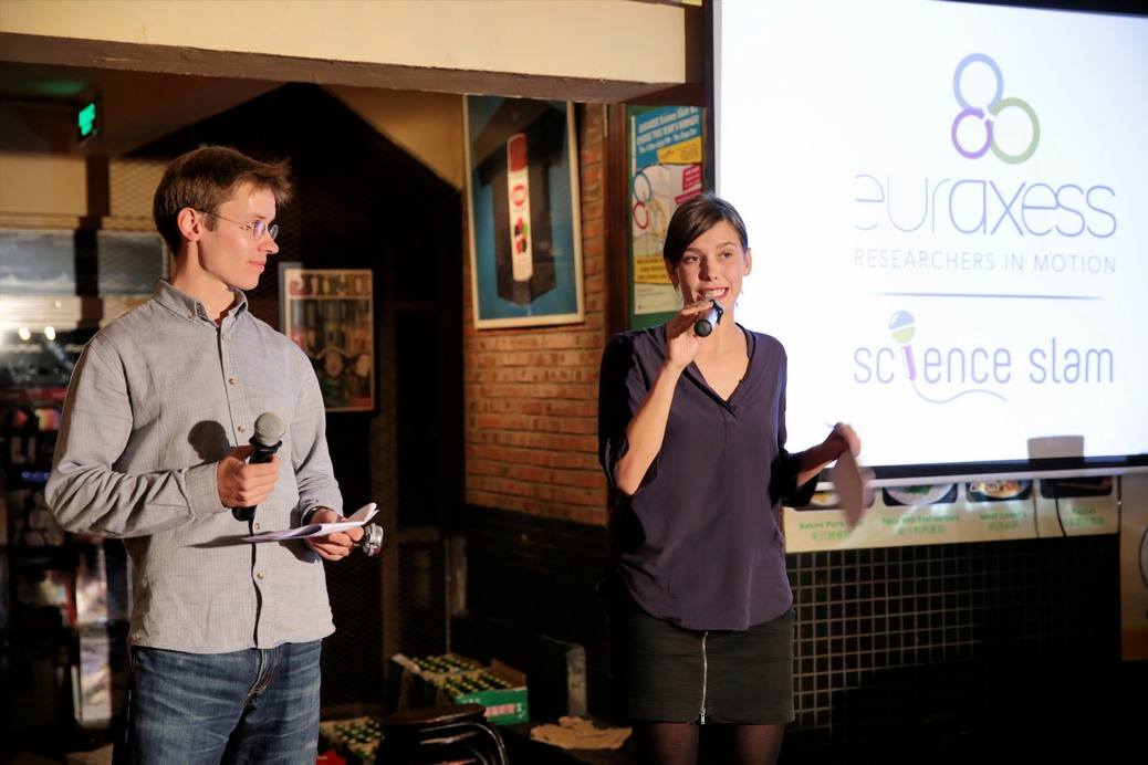 Andrea and Jacques at their charming best as MCs running the show.