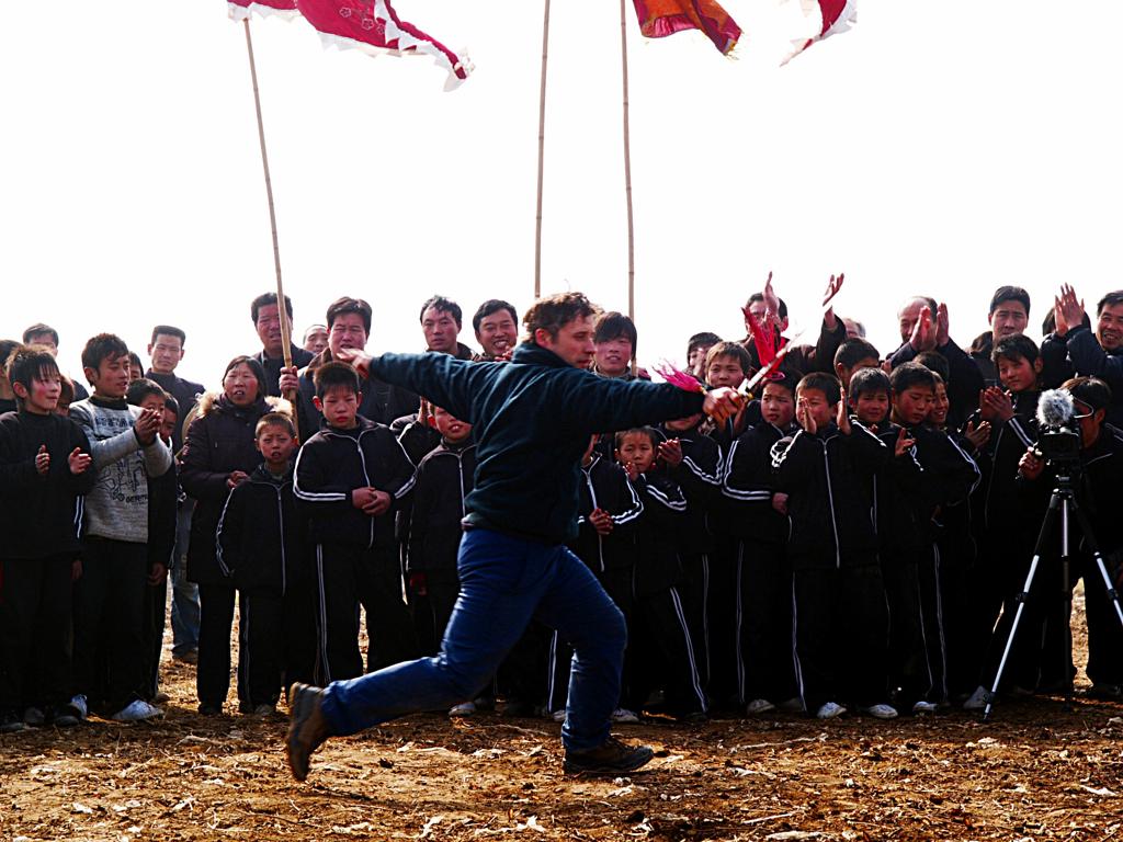 OLYMPUS DIGITAL CAMERA | 过年的时候加拿大梅花拳协会的安瑞德参加了故城村的表演在邻村