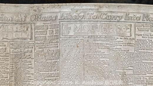 2015-01-18_0RA9267_v1_LTM CROP | Papier-mâché newspaper mats (flong) 1937