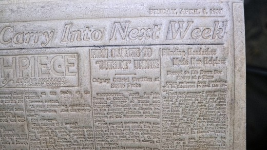 2015-01-18_0RA9268_v1_LTM-PC | Papier-mâché newspaper mats (flong) 1937