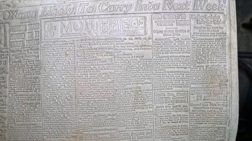 2015-01-18_0RA9269_v1_LTM-PC | Papier-mâché newspaper mats (flong) 1937