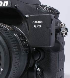 AOKatec AK-GS1. Adding geotags to photos, adding geodata