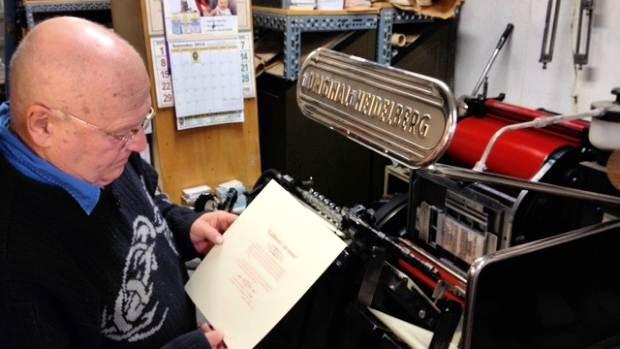 Ambrosi Printers, Ludlow typographic system, heidelberg