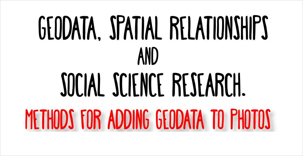 geodata geotag spatial relationships