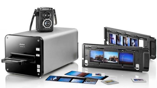 Plustek Optifilm 120 | Plustek Optifilm 120 with automatic negative feeder. Image credit: http://plustek.com/usa/products/opticfilm-series/opticfilm-120/