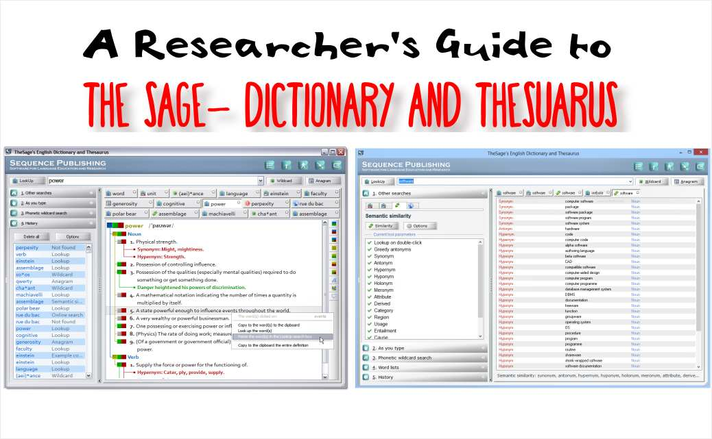 TheSage The Sage, dictionary thesaurus, researcher tool