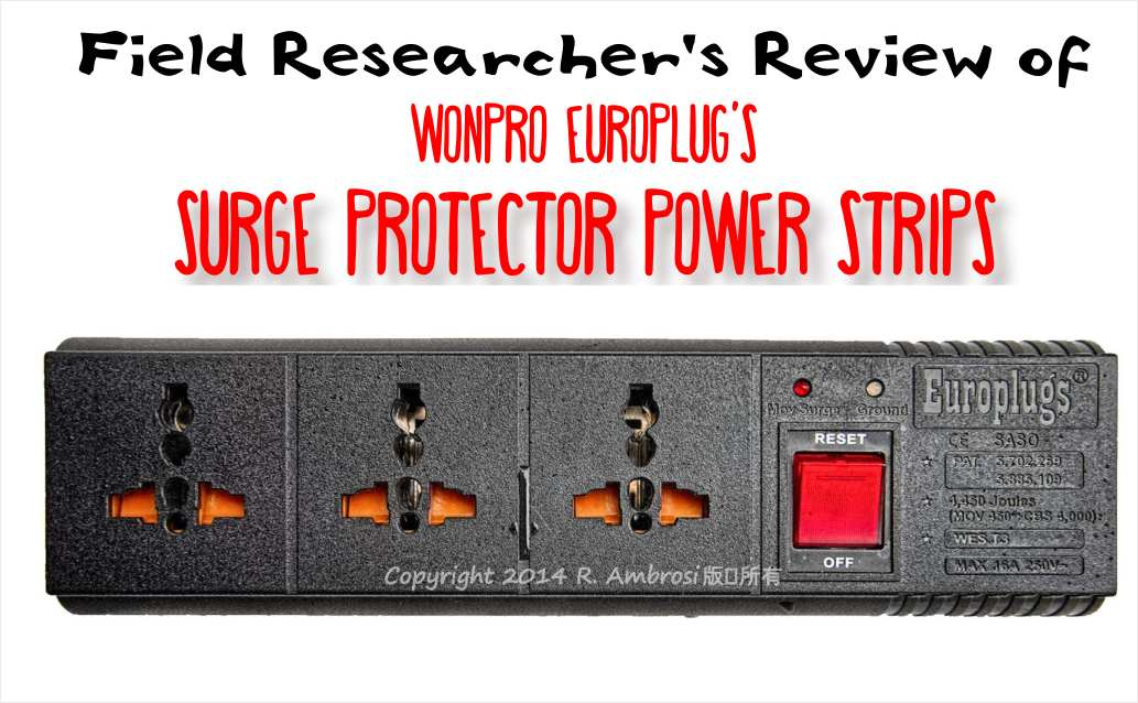 Wanpro Europlug surge protector power strip