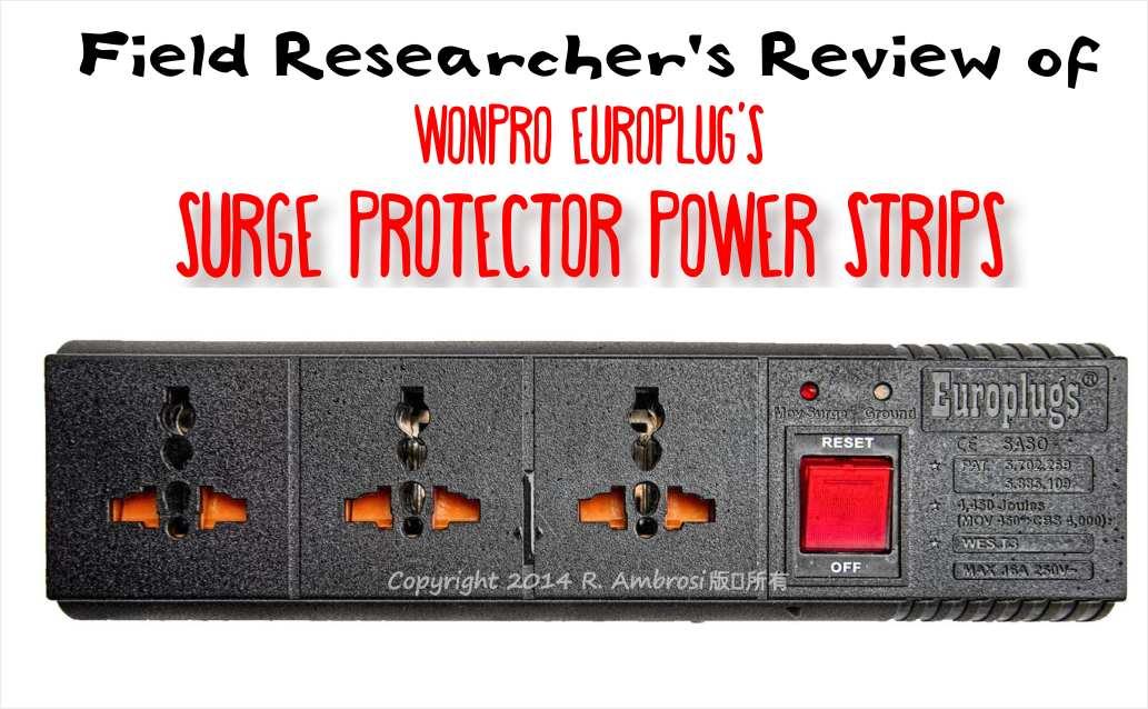 Wanpro Europlug surge protector power strip
