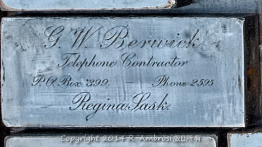 2015-05-14_0RA9681_v1 027 GW Berwick- Regina SK | G.W. Berwick Telephone Contractor P.O. Box 388 Phone 2595 Regina, Sask.
