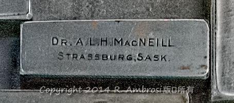 2015-05-14_0RA9706_v1 TRAY 2 002 ALH MacNeill- Strassburg SK | Dr. A. L.H. MacNeill Strassburg, Sask