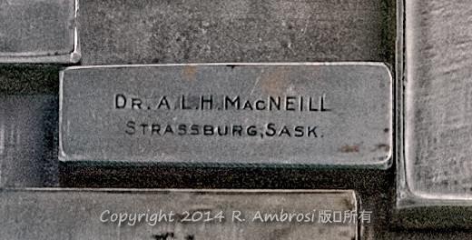 2015-05-14_0RA9706_v1 TRAY 2 006 ALH MacNeill- Strassburg SK | Dr. A.L.H MacNeill Strassburg, Sask