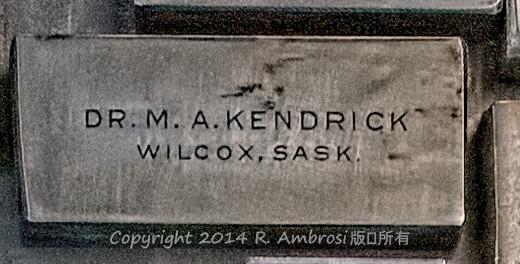 2015-05-14_0RA9706_v1 TRAY 2 007 MA Kendrick- Wilcox SK | Dr. M.A. Kendrick Wilcox, Sask.