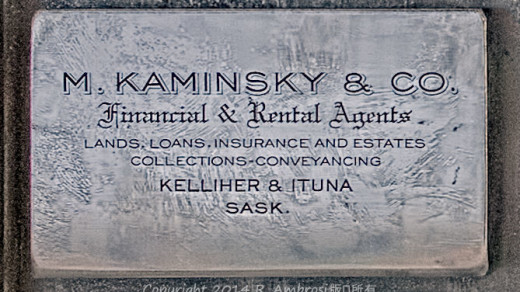 2015-05-14_0RA9706_v1 TRAY 2 021 Kaminsky & Co- Kelliher & Ituna SK | M. Kaminsky & Co. Financial & Rental Agents. Lands, Loans, Insurance and Estates Collections - Conveyancing. Kelliher & Ituna, Sask.