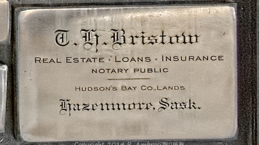 2015-05-14_0RA9706_v1 TRAY 2 028 GH Bristow- Hazenmore SK | G.H. Bristow Real Estate - Loans - Insurance.  Notary Public Hudson's Bay Co. Lands Hazenmore, Sask.