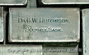 2015-05-14_0RA9721_v1 TRAY 3 006 Dr GW Hutchison | Dr. G.W. Hutchison. Southey, Sask.