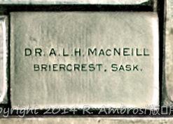 2015-05-14_0RA9721_v1 TRAY 3 019 Dr ALH MacNeill- Briercrest SK | Dr. A.L.H. MacNeill Briercrest, Sask.