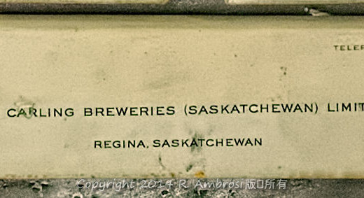 2015-05-14_0RA9721_v1 TRAY 3 040 Carling Breweries- Regina SK | The Carling Breweries (Saskatchewan) Limited Regina, Saskatchewan 921 Albert Street Telephone 569-8607