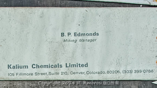 2015-05-14_0RA9744_v1 TRAY 4 026 Kalium Chemicals BP Edmonds Manager1200 | Kalium Chemicals  BP Edmonds  Mining Manager Kalium Chemicals Limited 105 Fillmore Street, Suite 210, Denver, Colorado 80206 (303) 399-0786