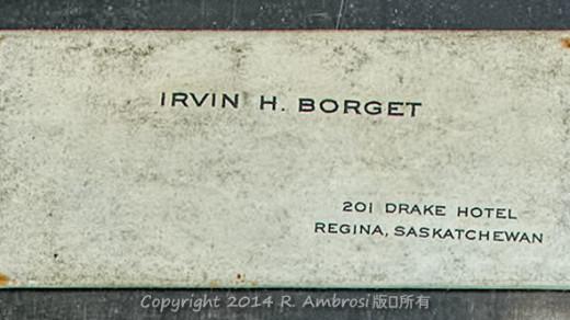 2015-05-14_0RA9744_v1 TRAY 4 029 Irvin H Borget Drake Hotel1200 | Irvin H. Borget 201 Drake Hotel Regina, Saskatchewan