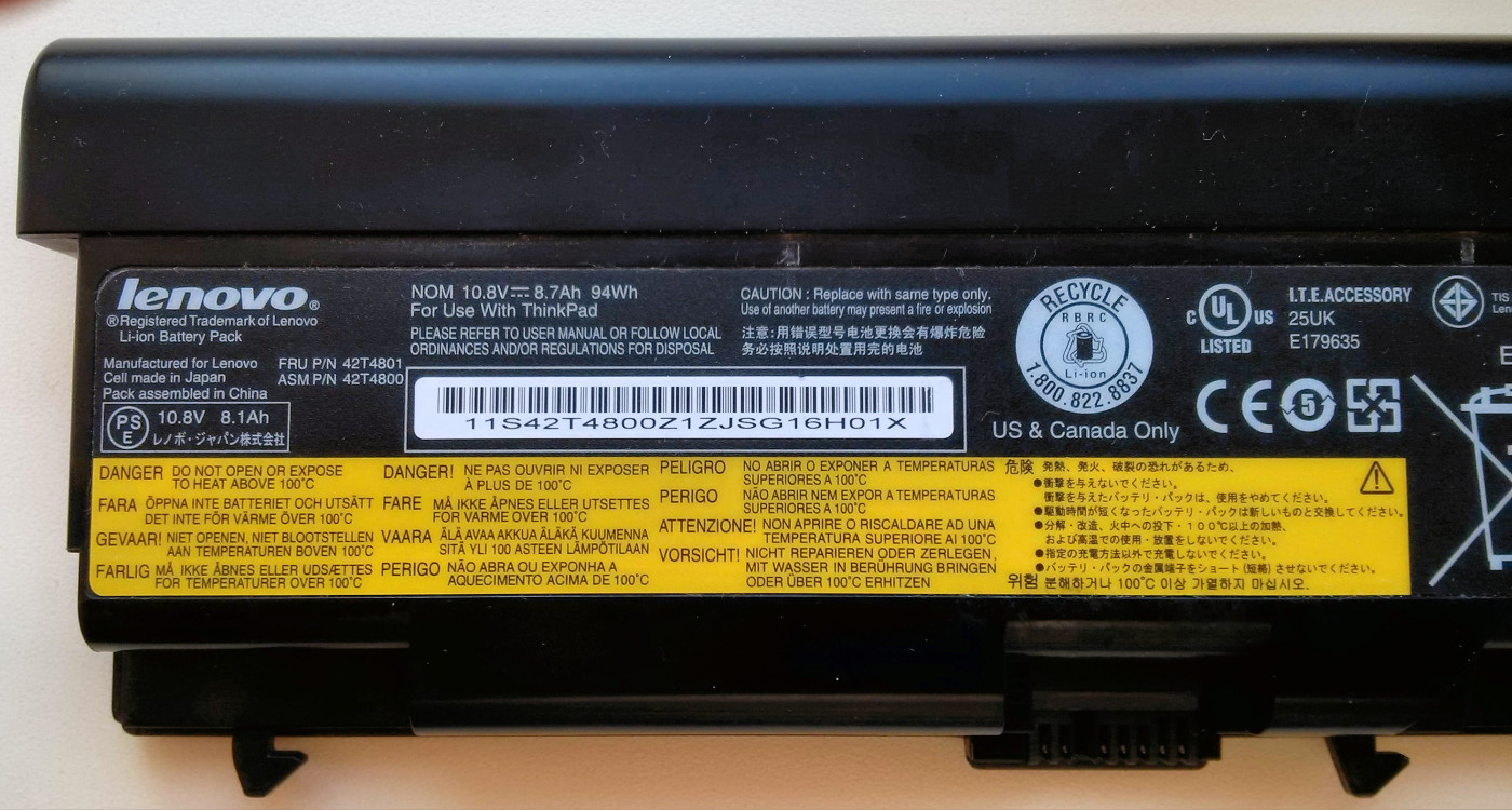 Lenovo battery recall 2015 fire hazard